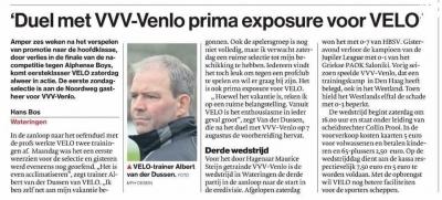 AD westland: VELO - VVV-VENLO